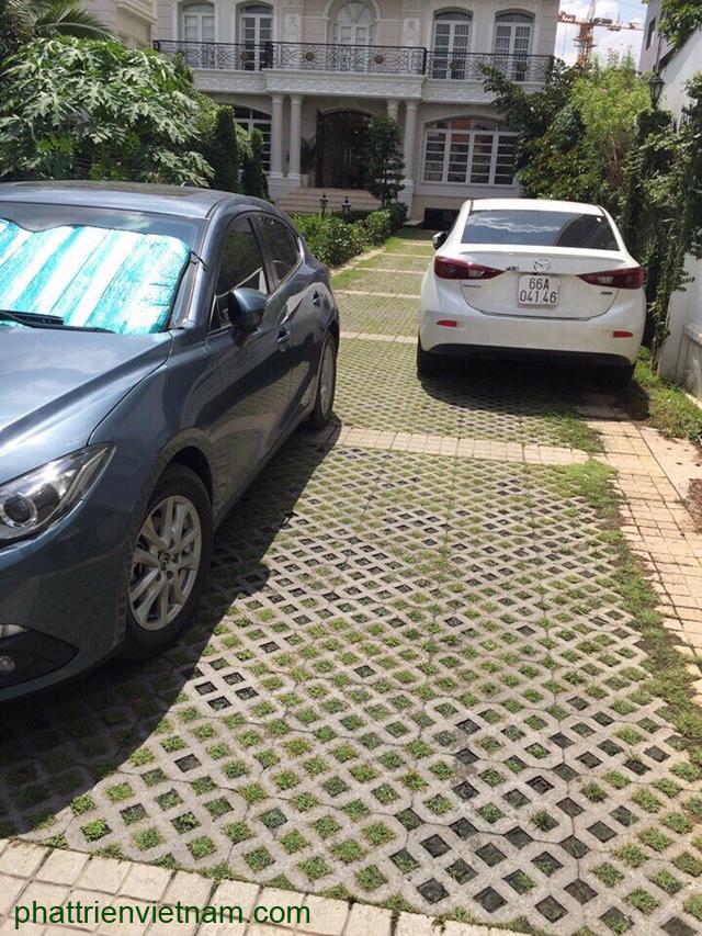 Gạch lỗ trồng cỏ lát sân xe hơi, gạch cỏ lót sân