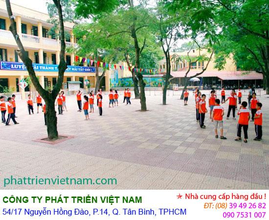 gach terrazzo, gạch terrazzo, gach lat via he, gạch lát vĩa hè, gach san truong, gạch sân trường, phattrienvietnam.com phat trien viet nam