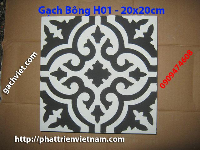 Gạch bông, gach bong, gạch hoa, gạch hoa, gạch lót nền, gạch lót sàn, gạch lát H01