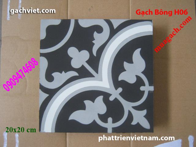 Gạch bông, gach bong, gạch hoa, gạch hoa, gạch lót nền, gạch lót sàn, gạch lát H06