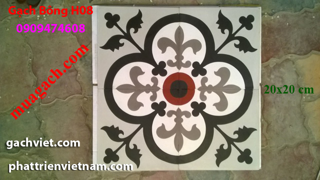 Gạch bông, gach bong, gạch hoa, gạch hoa, gạch lót nền, gạch lót sàn, gạch lát H08