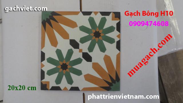 Gạch bông, gach bong, gạch hoa, gạch hoa, gạch lót nền, gạch lót sàn, gạch lát H10